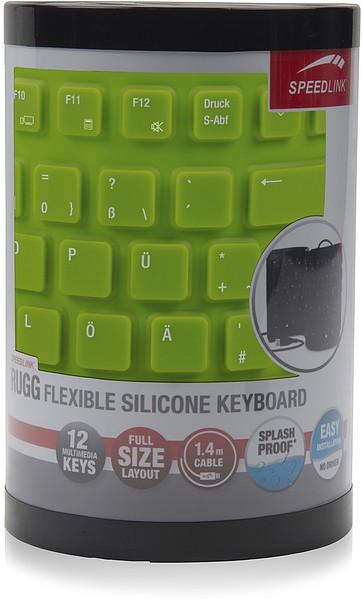 Speedlink RUGG Flexible Silikon Keyboard, Tastatur (geräuscharme