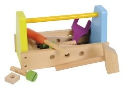 Eichhorn 100001845 - Holz Werkzeugbox, 18-teilig