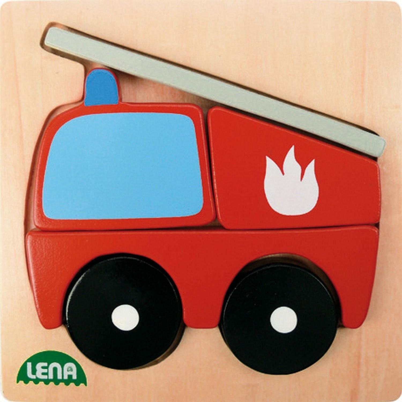 Lena 32081 - Holzpuzzle Feuerwehr