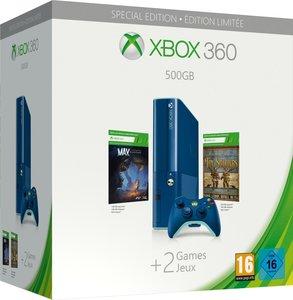 Microsoft Xbox 360 Konsole - Xbox One Design, Blau - 500GB - Special Editon inklusive  Max: The Curse of Brotherhood (DLC) & Toy Soldiers (DLC)