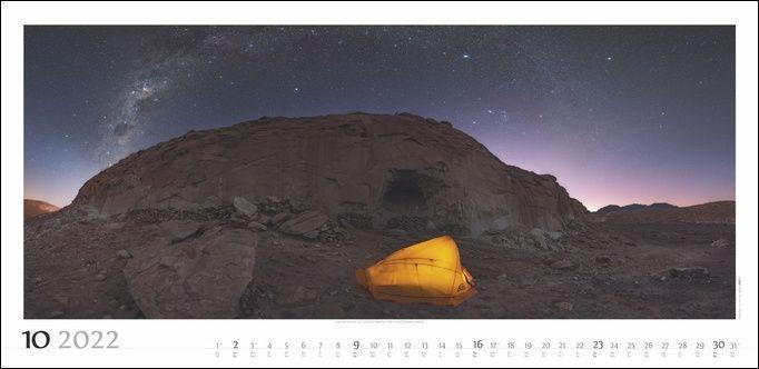 Sternenhimmel Kalender 2022
