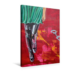 Premium Textil-Leinwand 50 cm x 75 cm hoch Böses Mädchen