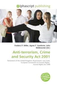 Anti-terrorism, Crime and Security Act 2001