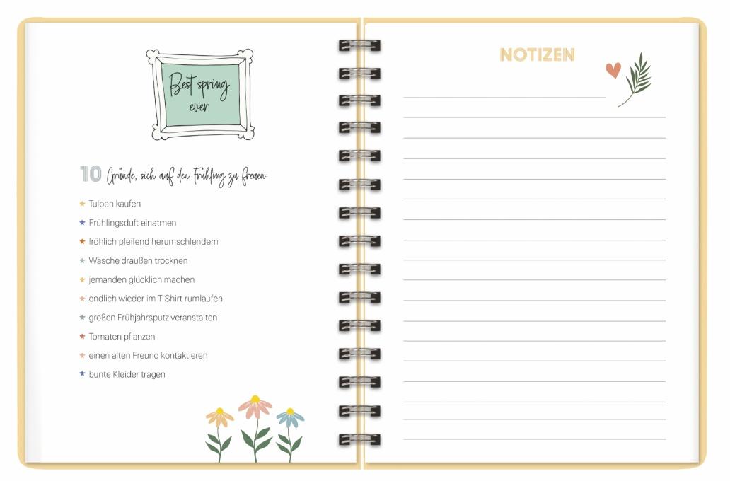 Palmen Spiral-Kalenderbuch A5 Kalender 2022