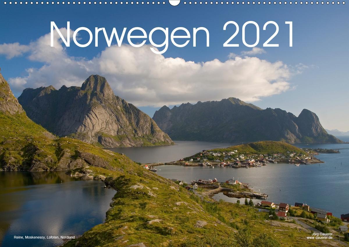 Norwegen (Wandkalender 2021 DIN A2 quer)
