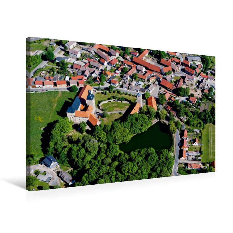 Premium Textil-Leinwand 75 cm x 50 cm quer Zilly mit Wasserburg