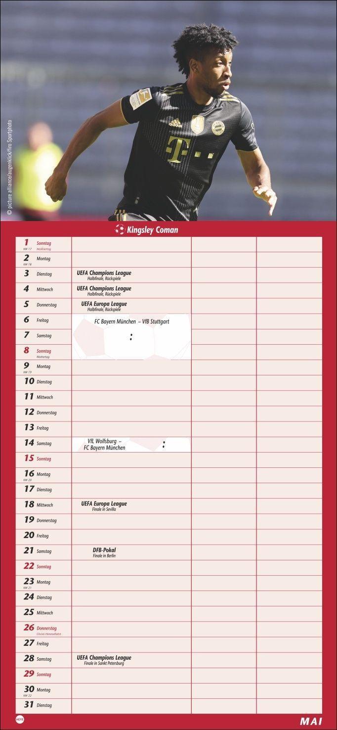 FC Bayern München Fanplaner Kalender 2022