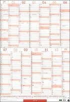 Mega-Posterplaner, rot Kalender 2022