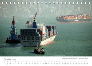Faszination Schifffahrt  ?  An Bord um die Welt (Tischkalender 2022 DIN A5 quer)