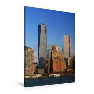 Premium Textil-Leinwand 60 cm x 90 cm hoch Manhattan Skyline von