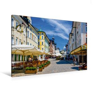 Premium Textil-Leinwand 120 cm x 80 cm quer Marktstraße