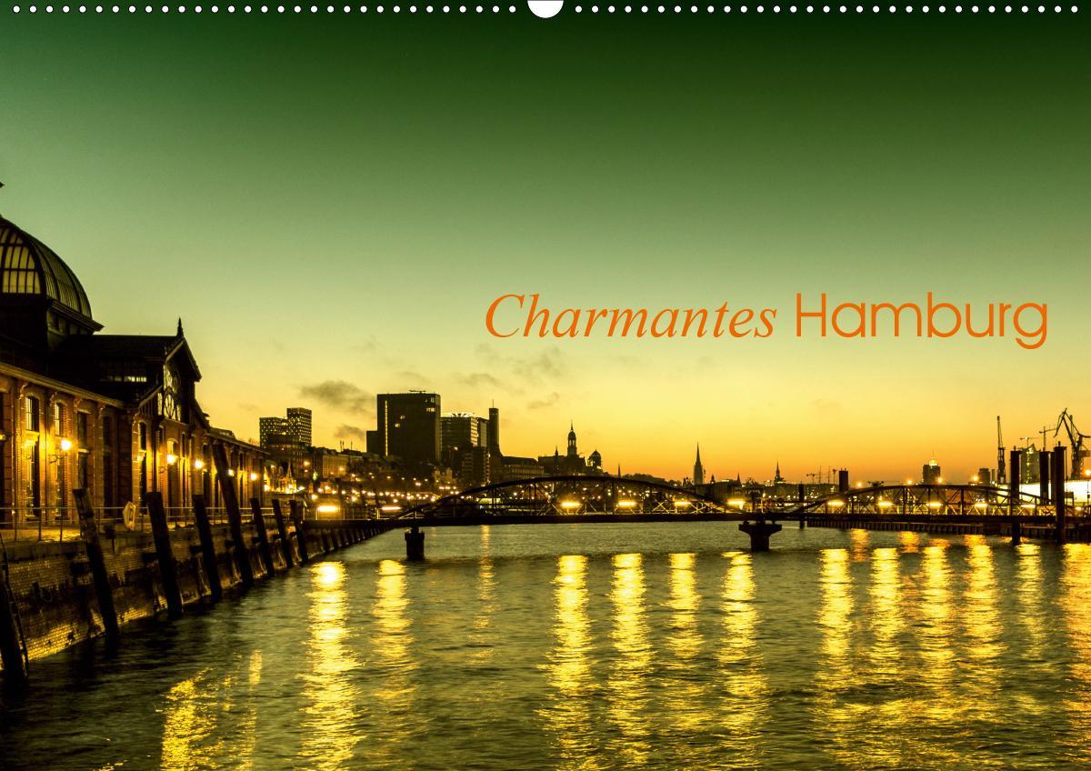 Charmantes Hamburg (Wandkalender 2021 DIN A2 quer)