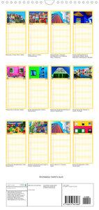 Architektur treibt\'s bunt - Familienplaner hoch (Wandkalender 2022 , 21 cm x 45 cm, hoch)