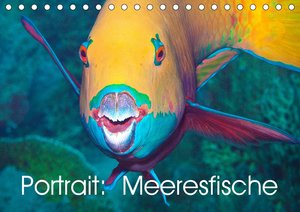 Portrait: Meeresfische (Tischkalender 2021 DIN A5 quer)