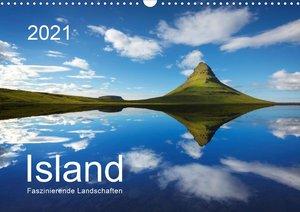 ISLAND 2021 - Faszinierende Landschaften (Wandkalender 2021 DIN