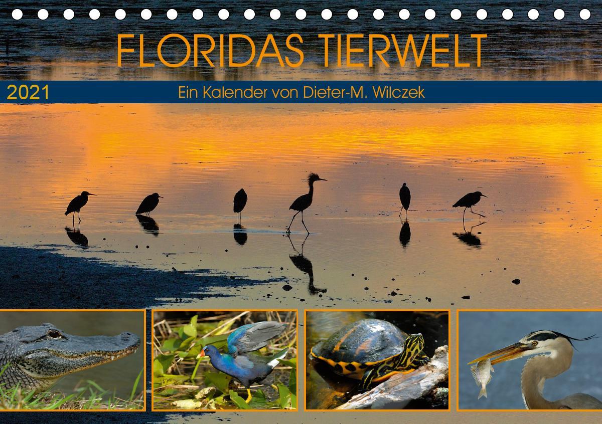 FLORIDAS TIERWELT (Tischkalender 2021 DIN A5 quer)