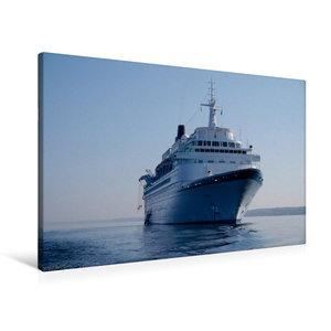 Premium Textil-Leinwand 90 cm x 60 cm quer Kreuzfahrtschiff Albatros Passagiere 830 L?nge 205,46 m