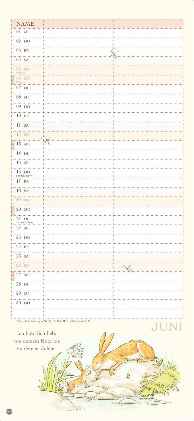 Weißt du eigentlich, wie lieb ich dich hab? Planer für zwei Kalender 2022