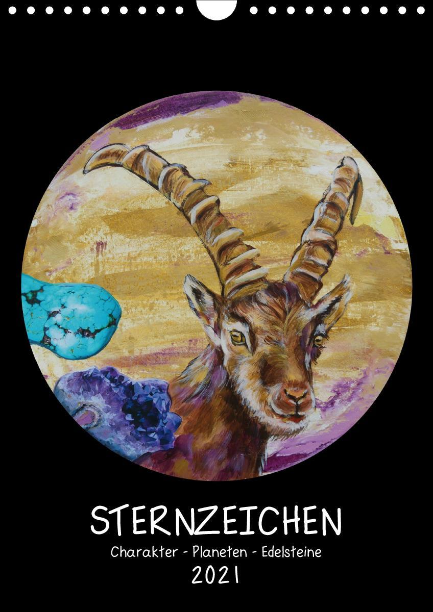 Sternzeichen - Charakter - Planeten - Edelsteine (Wandkalender 2