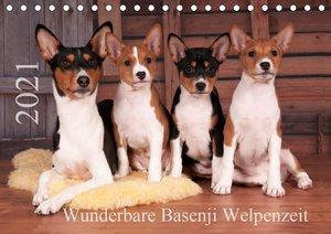 Wunderbare Basenji Welpenzeit (Tischkalender 2021 DIN A5 quer)