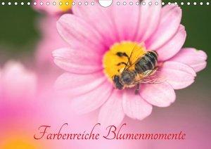 Farbenreiche Blumenmomente (Wandkalender 2021 DIN A4 quer)