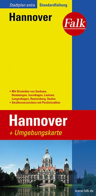 Falk Stadtplan Extra Standardfaltung Hannover 1 : 20 000