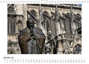 Notre-Dame de Paris en Cartoon (Calendrier mural 2022 DIN A4 horizontal)