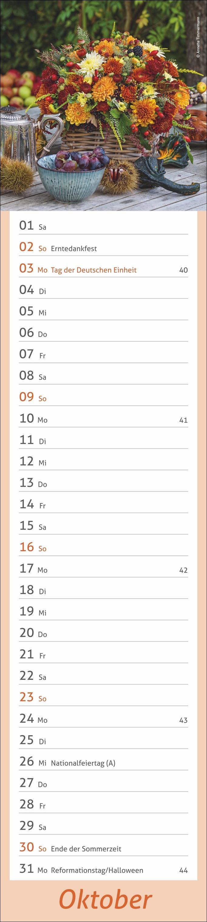 times&more Garten long Kalender 2022