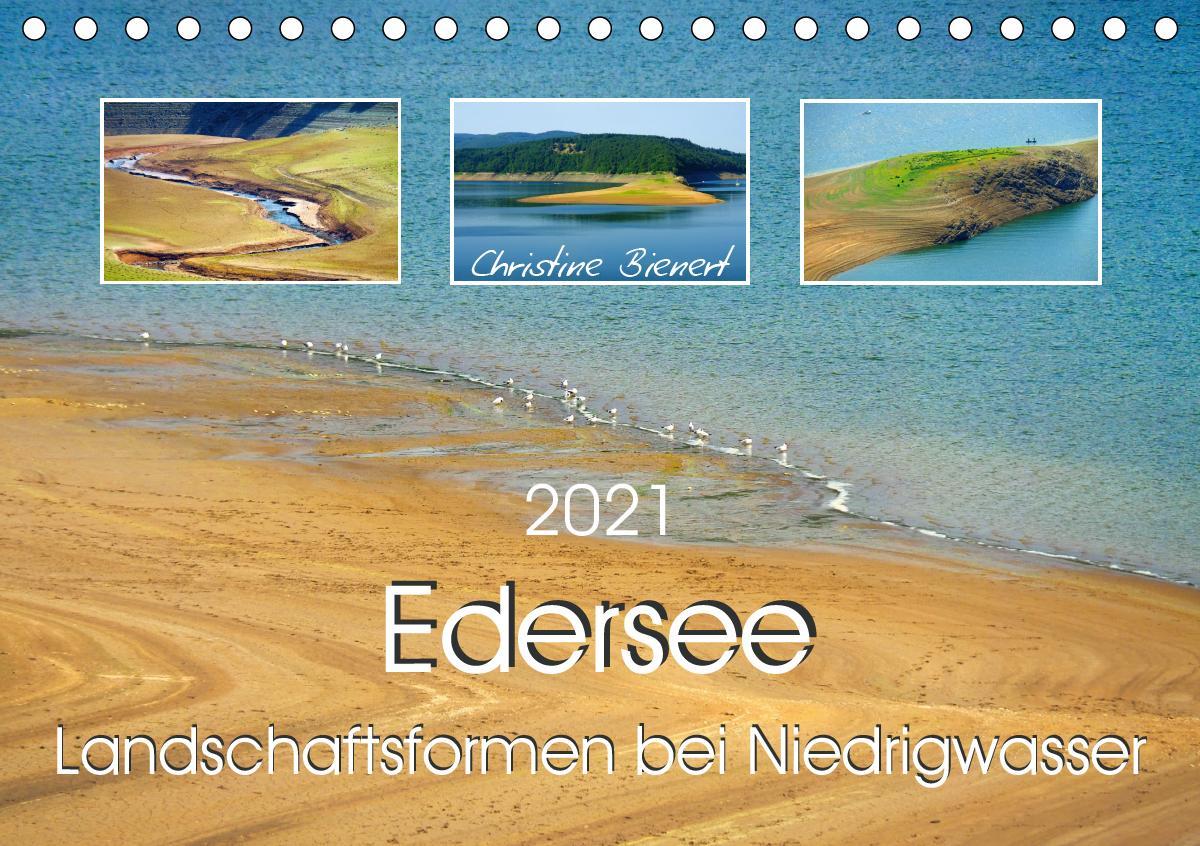 Edersee - Landschaftsformen bei Niedrigwasser (Tischkalender 202