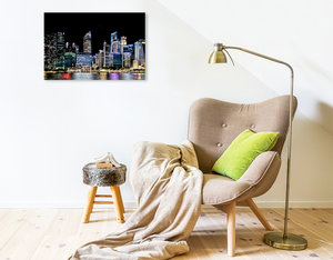 Premium Textil-Leinwand 75 cm x 50 cm quer Singapur - Asiatische
