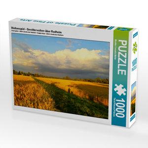CALVENDO Puzzle Wolkenspiel - Gewitterwolken ?ber Rodheim 1000 Teile Puzzle quer