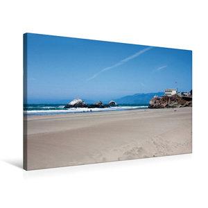 Premium Textil-Leinwand 75 cm x 50 cm quer ocean Beach