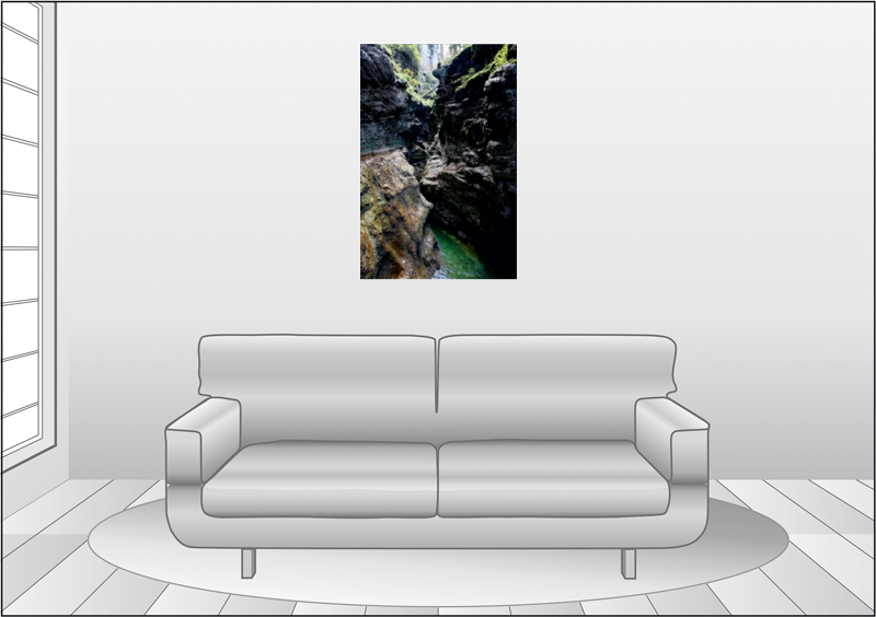 Premium Textil-Leinwand 60 cm x 90 cm hoch Naturerlebnis Breitac