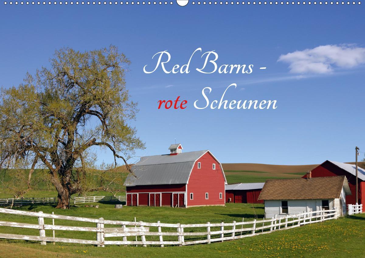 Red Barns - rote Scheunen (Wandkalender 2021 DIN A2 quer)