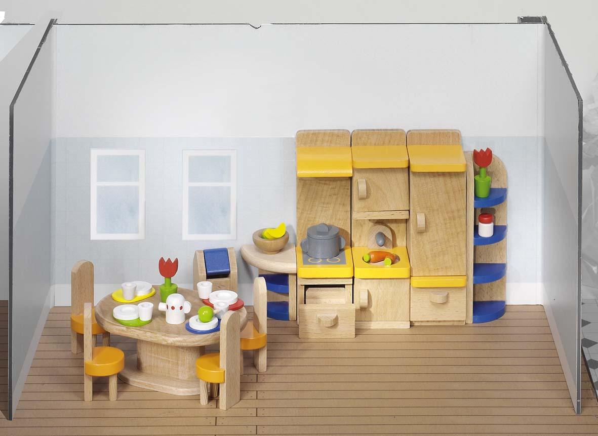 Goki 51747 - Puppenmöbel Küche, Holz