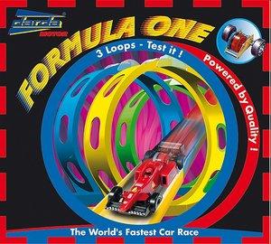 Simm 50131 - Darda: Formula One, Formel 1 Rennbahn inklusive  rotem Rennwagen, 530 cm Streckenlänge