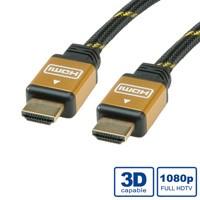 ROLINE GOLD HDMI High Speed Kabel, ST-ST 2,0m
