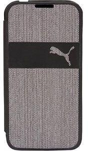 PUMA FlipCover Blueprint, Schutzhülle für Handy Samsung Galaxy S4, schwarz