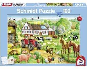 Fröhlicher Bauernhof KINDERPUZZLES 100 TEILE