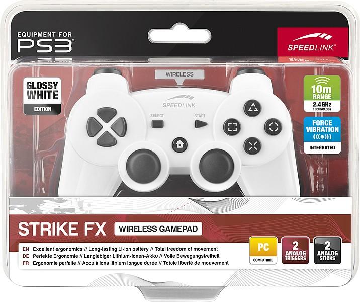 Speedlink SL-4443-WE STRIKE FX Wireless Gamepad - für PS3/PC, gl