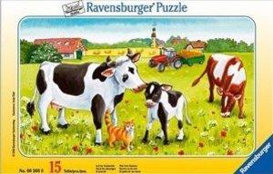 Ravensburger 06368 - Auf der Kuhweide, 15 Teile Puzzle