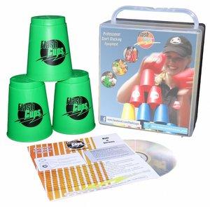 Flash Cups 1005 - Speed Stacking: FlashCups grün, 12 Stück, mit