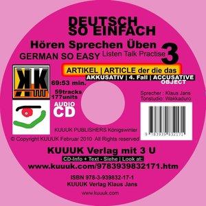 Deutsch So Einfach - Hören Sprechen Üben 3 - German So Easy - Ta