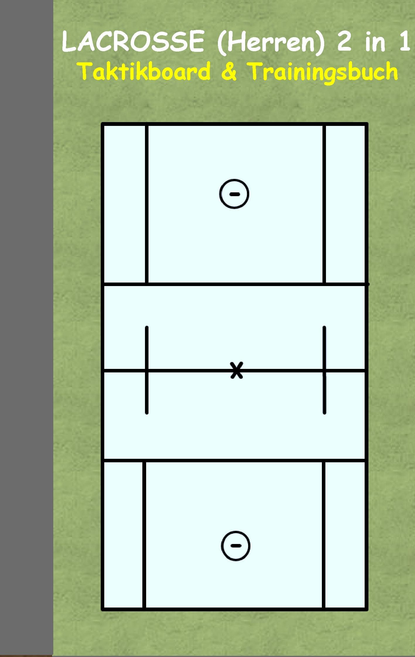 Lacrosse (Herren): 2 in 1 Notiz- und Taktikblock im Pocketformat
