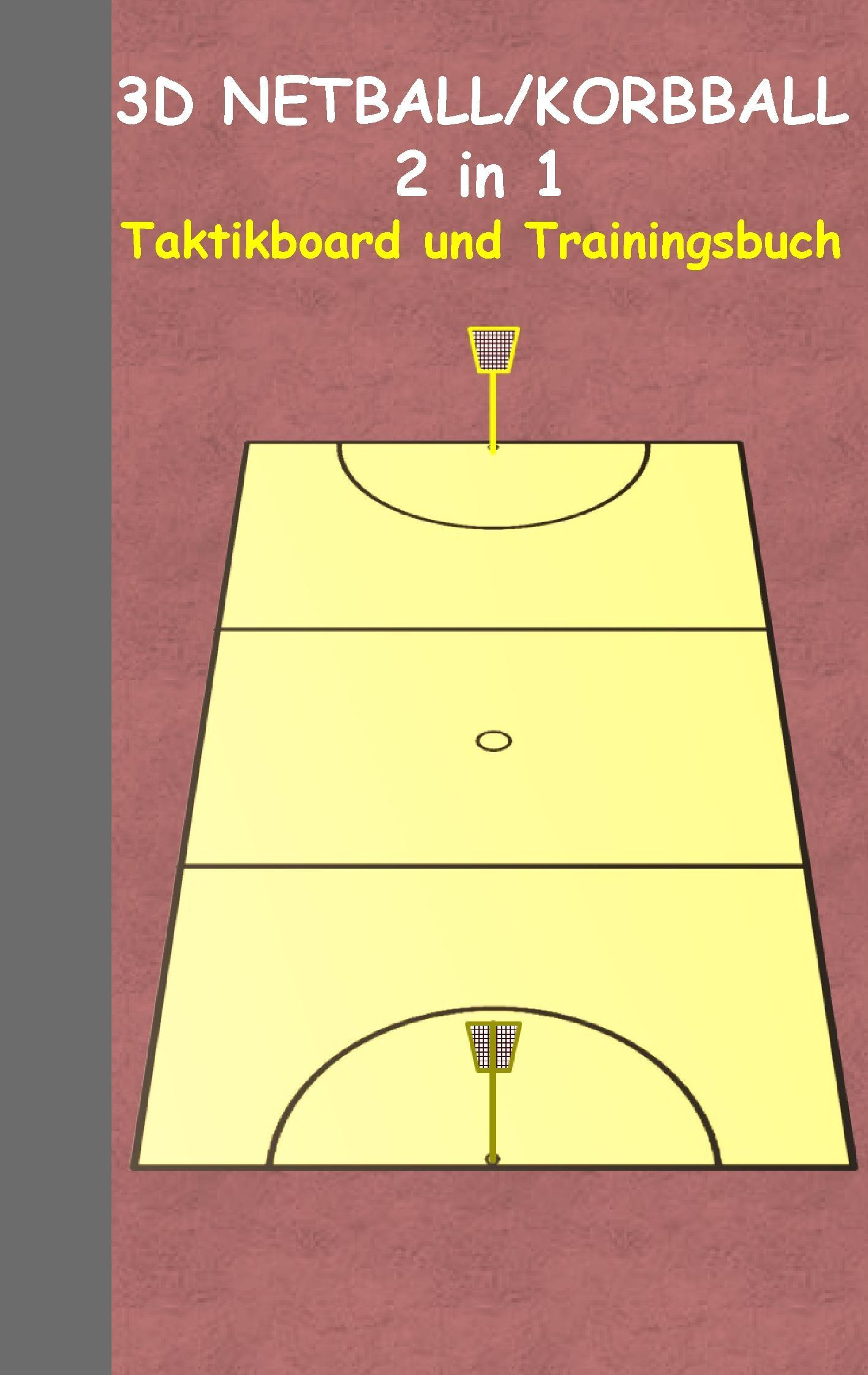 Korbball/Netball: 2 in 1 Notiz- und Taktikblock im Pocketformat