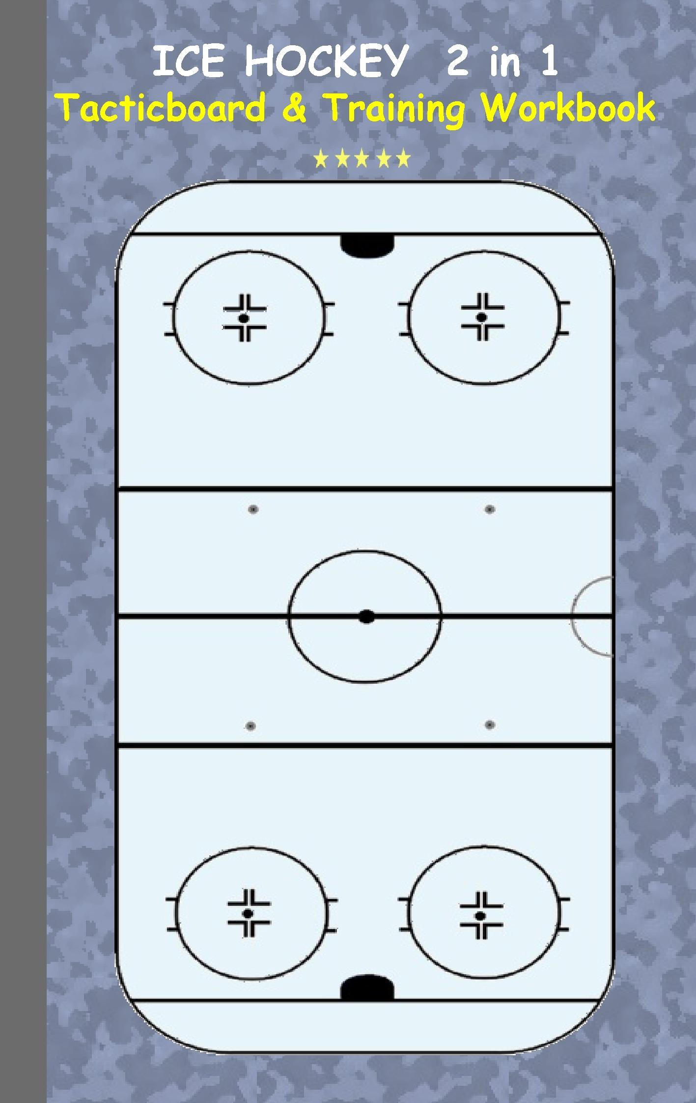 Ice Hockey: 2 in 1 note- and tactic book with dry erase panel in
