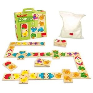 Jumbo Spiele D53327 - Goula: Macro Domino, 28 Teile