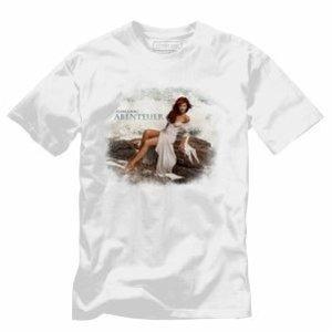 Meerjungfrau T-Shirt M Girlie White