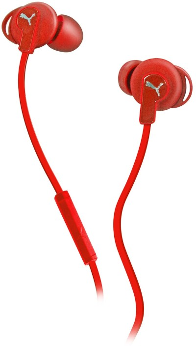 Puma Bulldogs Headset In-Ear + Mic, rot
