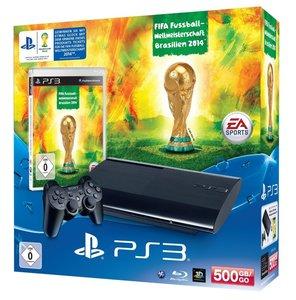 PlayStation 3 Konsole 500 GB inkl. DualShock 3 und Fifa WM 2014